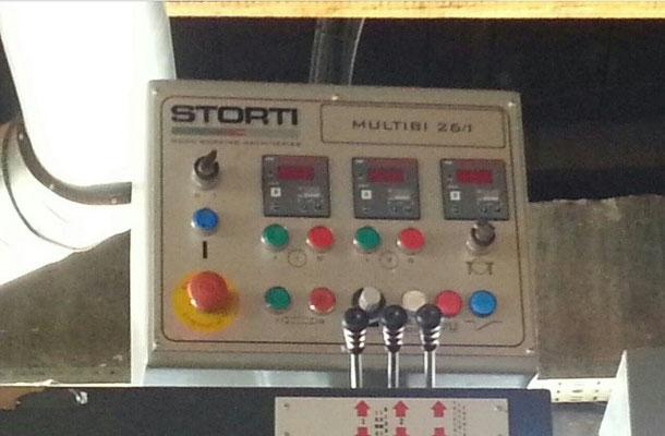 Автоматическая линия второго ряда на основе двухвального многопильного станка Storti 6